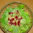 水菜と豆のサラダ