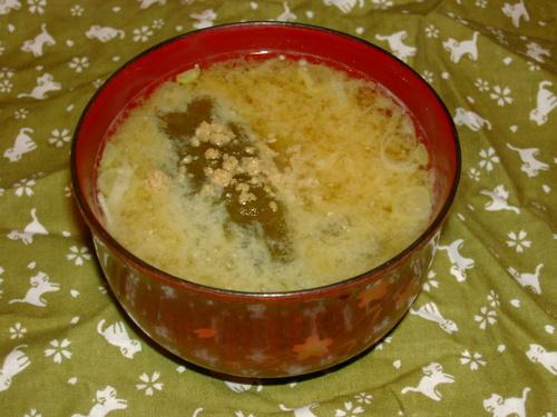 たもぎ茸ととろろ昆布の味噌汁