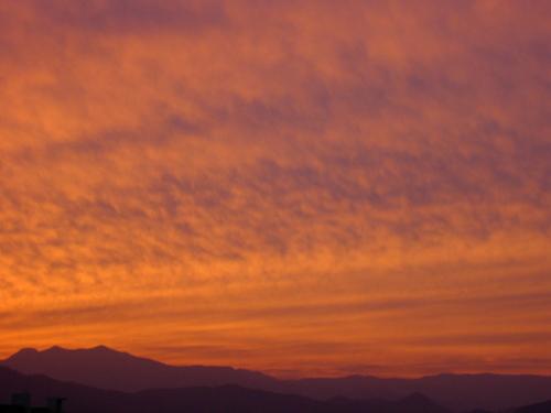 夕景~自宅付近 不思議な空模様