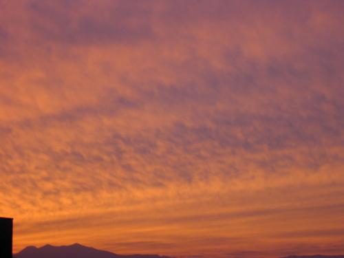 夕景~自宅付近 並ぶ雲