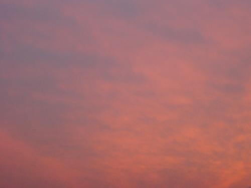 夕景~自宅付近 空の色