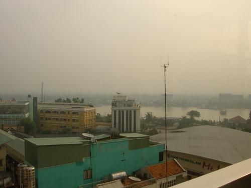 ホテルの窓からの風景